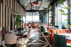 Ginkgo Sky Bar, restaurante y cocktail bar con vistas en Madrid