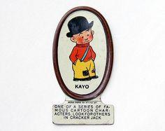 Tin Cracker Jack Toy Cartoon Character Kayo