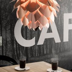 Copper Silvia lampshade, flower like design with cutting edge style and warm copper, rose gold hues, this lampshade will make any decor look chic and sexy...