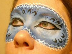Masquerade or New Years face painting idea.