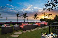 Sunset Bar at the Padma Resort, Bali. Our group resort again this year.