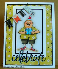 Art Impressions Rubber Stamps: Ai @ Hobby Lobby: AICS36 - Birthday Wishes Clear Stamps ...handmade birthday card. masculine