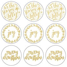 "Gold 'Tis The Season Lucky Dip Foil Stickers 4""X4"" 3 Sheets/Pkg"