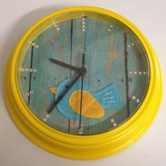 up cycled clock from cheap