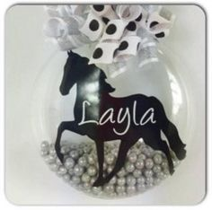 Personalized Horse Lover's Christmas Ornament by SparklesandSpice11 on Etsy