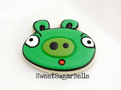 The Sweet Adventures of Sugarbelle: Angry Birds Cookies Part 1 {Pig}