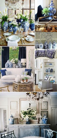 Blue and White Mix