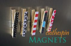 DIY Locker Accessories Projects : Clothespin Magnets | Decorate your locker with these back to school accessories. #DiyReady www.diyready.com