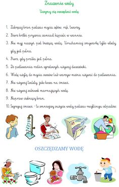 BLOG EDUKACYJNY DLA DZIECI: ZNACZENIE WODY Speech Pathology, School Hacks, Earth Day, Kids And Parenting, Kids Learning, Montessori, Homeschool, Crafts For Kids, Teacher
