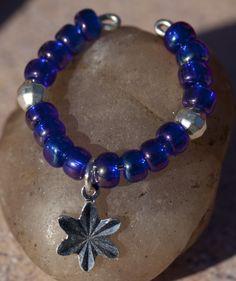 Iridescent Beads - Cobalt
