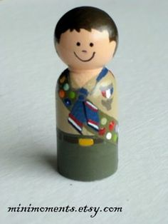 Custom Eagle Scout or Brownie Girl Scout Wooden Peg by minimoments