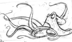 simple octopus drawing - Google Search
