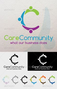 CareCommunity - Logo Design Template Vector #logotype Download it here: http://graphicriver.net/item/carecommunity/4807585?s_rank=156?ref=nexion
