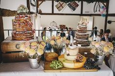Charming Pretty Pastel Country Wedding Cake Table http://www.helenlisk.blogspot.co.uk/