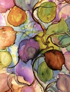 Alcohol Inks on Yupo by loracia