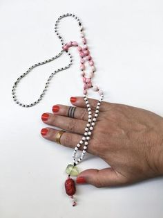 Inspired by Vanilla & Jasmin. Made with: Mother of Pearls Pink Coral Green Amethyst Pink Coral Engraved Jade Mother Pearl, Exotic, Amethyst, Rain, Coral, Pure Products, Make It Yourself, Pearls, How To Make