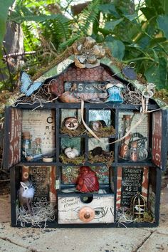 UNREAL altered Olde Curiosity Shoppe Plywood house by @Melanie Bauer Bauer Forbes today! There are so many details to see, you must click to see all the glorious details! #graphic45