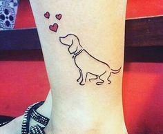 Someday when my lil buddy passes (hopefully never! Mini Tattoos, Dog Tattoos, Animal Tattoos, Trendy Tattoos, Body Art Tattoos, Small Tattoos, Tattoos For Women, Tatoos, Beagle Tattoo