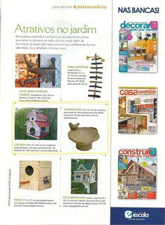 Dois produtos da Elo7 foram publicanos na Revista Plantas Flores e Jardins, em matéria sobre atrativos para o jardim.