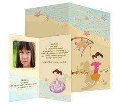 En la playa (para niñas) - #invitación de #cumpleaños para niñas