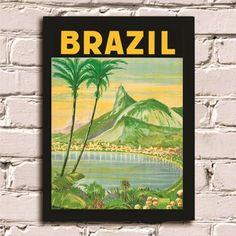 Poster com Moldura Brazil #
