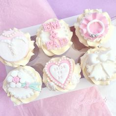 Engagement/bridal cupcakes with fondant decorations/cupcake toppers  www.lovecatherine.co.uk www.instagram.com/catherine.mw