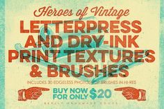 Letterpress & Dry-Ink Print Textures by GunzKingzArt