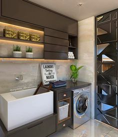 59 Super Ideas for home renovation laundry decor Laundry Shop, Laundry Decor, Small Laundry Rooms, Laundry Room Organization, Laundry Room Design, Bathroom Interior, Interior Design Kitchen, Interior Minimalista, Paint Colors For Living Room