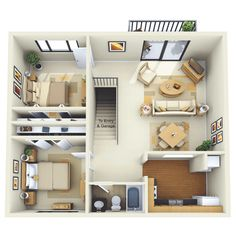 garage apartment design floor plans - Google Search