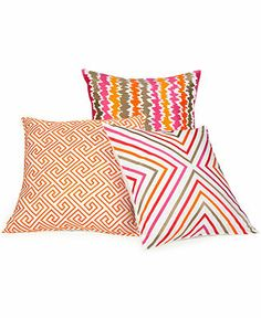 Trina Turk Geometric 20 Square Decorative Pillow - Orange.  Macy's.