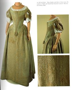 Extant 1660s gown at the Museum of Fashion (Bath)