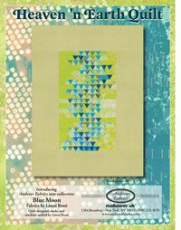 Heaven 'n Earth quilt pattern by Lonni Rossi for Andover Fabrics, using Blue Moon fabric collection