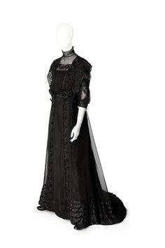 Circa 1910 silk, lace, ribbon, and tulle dress of Ebba (Johanna Cecilia) von Eckermann.