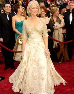 Helen Mirren for the Mother of the Bride dress