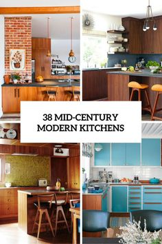 Mid-century modern is an architectural, interior, product and graphic design that generally describes mid-20th century developments in modern design and architecture. It's gaining more and more popularity because everything retro is so trendy today, and because of its coziness. Today I've prepared several mid-century modern eye-candies for you – these are cool kitchens. Speaking about mid-century modern kitchens, you'll see an extensive u