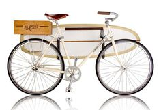 reminds me of johnny's bike in Hawaii w/ a surf board rack