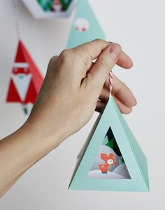 Christmas Ornaments printable download - DIY these quick ornament crafts for your tree, mantel, shelf, and for gifts too! Smallful.com