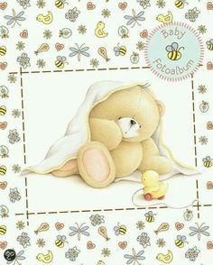 Forever Friends Tatty Teddy, Teddy Beer, Baby Shower Clipart, Sweet Drawings, Friend Cartoon, Baby Scrapbook Pages, Blue Nose Friends, Love Bear, Cute Teddy Bears