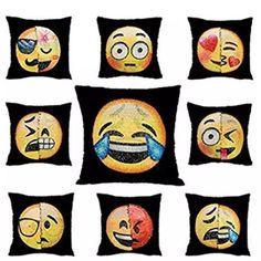 !NEW! Emoji Double Sequin Reversible Pillow