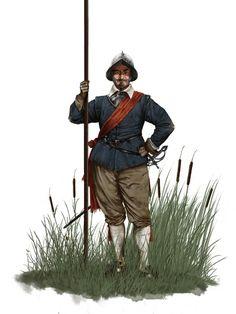 Spanish Tercio Pikeman, by Dionisio Álvarez.