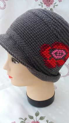 Cute and different crohet hat,by Prnic Georgeta.