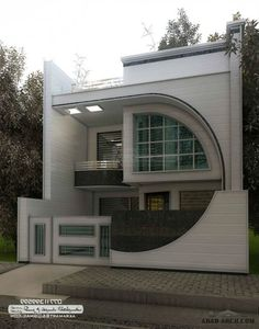 The exterior is the face of the house that everyone will see in the first part. Take a look at the world's most beautiful modern homes and find Unique House Design, House Front Design, House Exterior Design, Interior Design, Dream House Plans, Modern House Plans, Modern House Exteriors, Beautiful Modern Homes, Front Elevation Designs