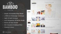 Download and review of Bamboo - A Simple, Elegant Wordpress Blog Theme, one of the best Themeforest Magazine & Blogs themes {Download & review at|Review and download at} {|-> }http://best-wordpress-theme.net/bamboo-a-simple-elegant-download-review/