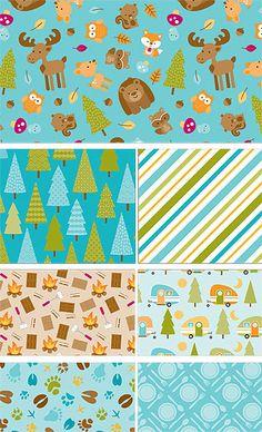 Happy Camper by Doodlebug Design for Riley Blake Designs—Subscribe to our newsletter at http://www.rileyblakedesigns.com/newsletter/ #iloverileyblake #happycampler #doodlebugdesigns