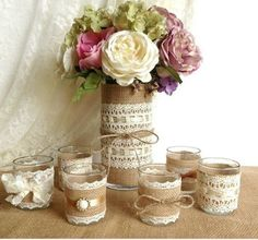 These little jars could be cute for candles or something?