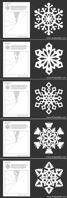 Plantillas copos de nieve. Ideas de los copos de nieve de la aplicación en la decoración!