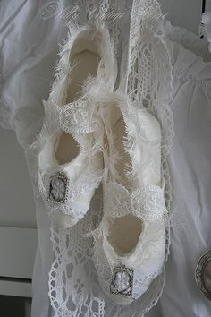 Ballet Slippers and Lace <3 from nelly vintage home: