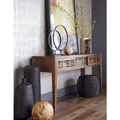 Circlet Stands in Sculpture | Crate and Barrel - for my fireplace mantle