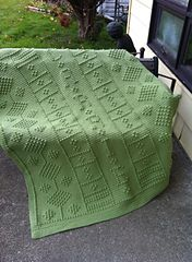 I designed this afghan for my son's girlfriend for Christmas last year. This afghan was personalized for her.