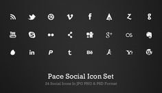 Pace-social-free-minimal-clean-icons
